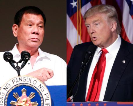 Philippines says Trump called Duterte to affirm alliance