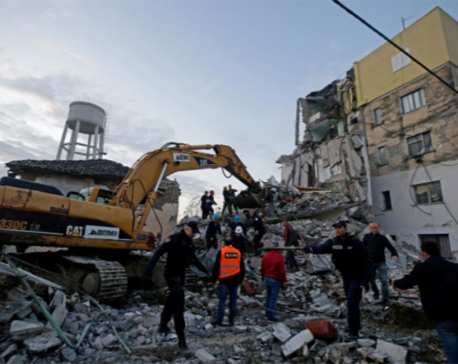 Powerful quake kills 21 in Albania as buildings bury residents