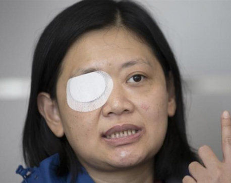Eye blinded covering Hong Kong protests, Indonesian reporter seeks justice