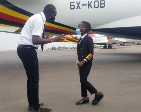 Seven-year-old boy who adores Elon Musk is sensation on Ugandan aviation scene