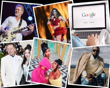 2020's Most searched for artists on Google