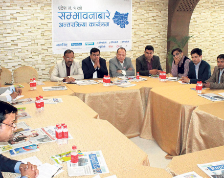 Entrepreneurs of Province 1 seek  investment-friendly policies