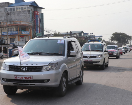 Bharatpur metropolis organised car rally up to Lumbini to promote local tourism