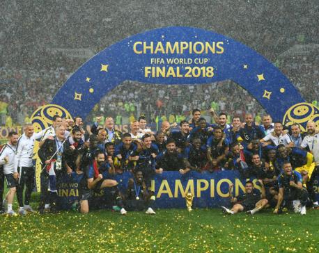 France wins 2nd World Cup title, beats Croatia 4-2