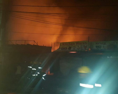 Big fire at Kuleshwor chowk