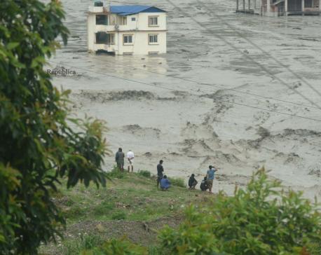 Fears of fresh flood as water level in Melamchi River returns to dangerous level