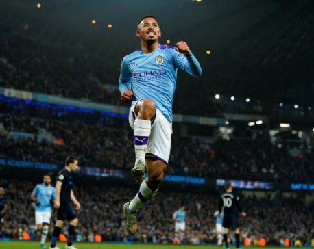 Jesus double helps Man City inflict first defeat on Ancelotti