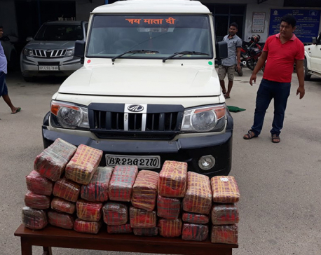 Police seize 60 kg marijuana from car with Indian plate number