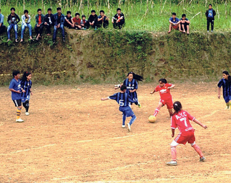 Football craze in Panchthar during winter