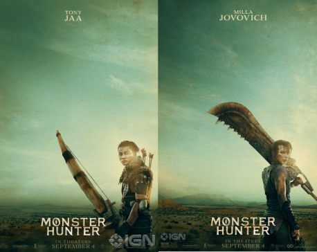 The first posters of video-game based film 'Monster Hunter' are out!