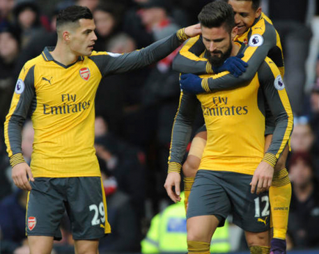 Giroud snatches point for Arsenal against Manchester United