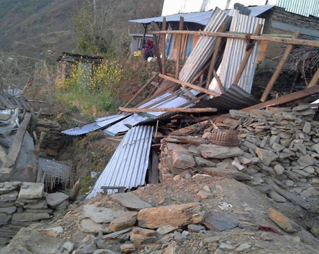 Snowfall hits Gorkha quake victims