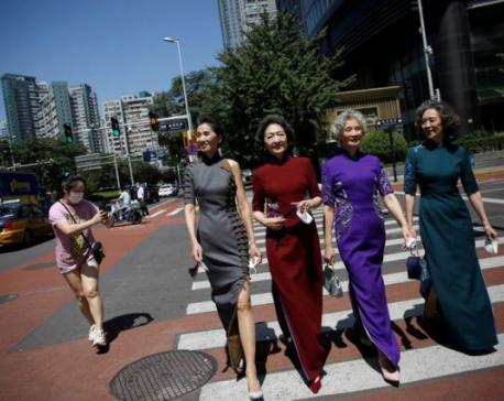 Remove masks, celebrate freedom: fashion grannies return to Beijing street 'catwalk'
