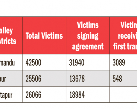 Only 3637 quake victims of 94072 in Valley get first tranche