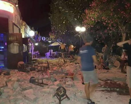 Quake damages buildings on Greek island; 2 killed, 120 hurt