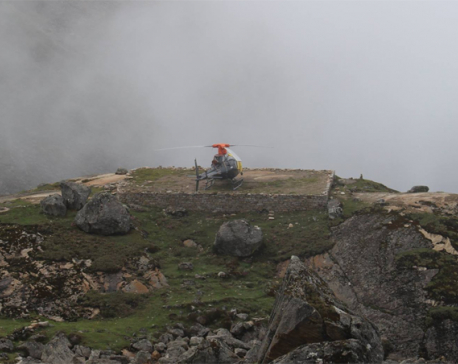 Manang Air chopper crash-landed  in Gosaikunda taken to Kathmandu