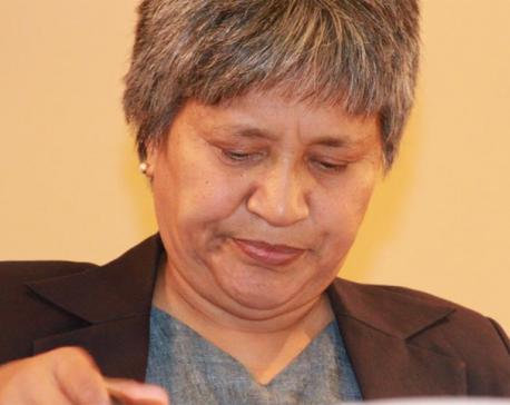 Hisila Yami 'sorry' for anti-national slogan