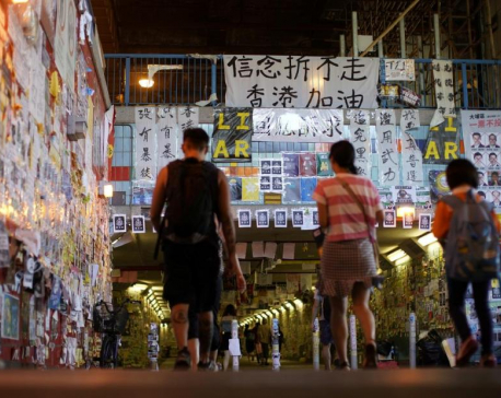 Pro-China groups tear down some of Hong Kong's 'Lennon Walls'