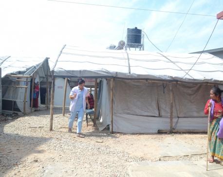 District hospital still runs its activities inside a tent