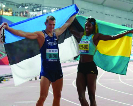 Husband and wife Uibo and Miller-Uibo each win silver