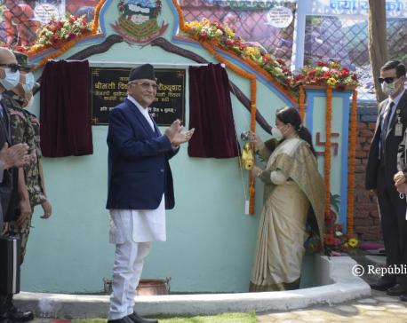 Prez Bhandari formally inaugurates Melamchi drinking water distribution in Kathmandu