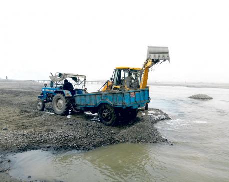 Illegal excavation rampant along Bagmati River
