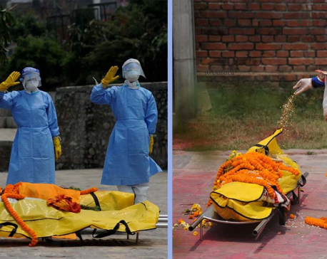 IN PICS: Nepal Army personnel cremating those dying of COVID-19 at Pashupatinath