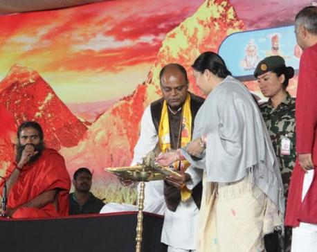 Prez Bhandari inaugurates yoga camp in Birgunj