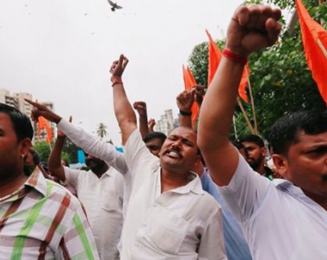 Indian police detain 450 after violent minority protests