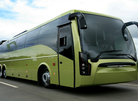 Five luxury tourist buses operate