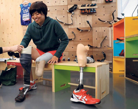 Japan's 'Blade Library' offers joy of blade running to amputees