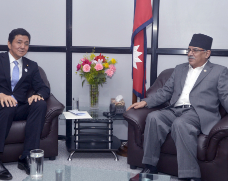 Japanese State Minister Nobuo calls on PM Dahal