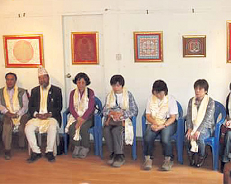 Japanese artists' love for Nepali art in exhibition