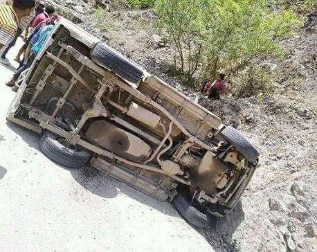 7 injured, 2 critically, in Dailekh jeep mishap