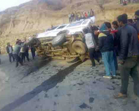 Six including minor girl injured in Rukum jeep mishap