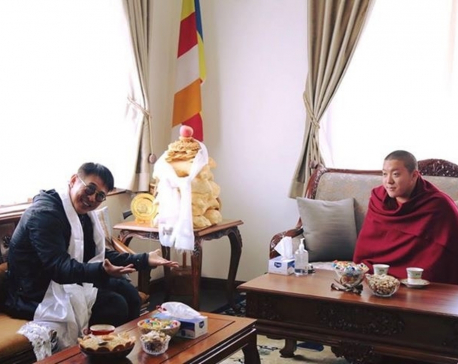 Hollywood actor Jet Li busy meeting with Buddhist religious leaders