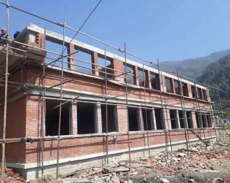 Jiri Technical School rising from rubbles