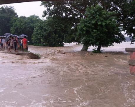 Khado River inundates 800 houses in Saptari