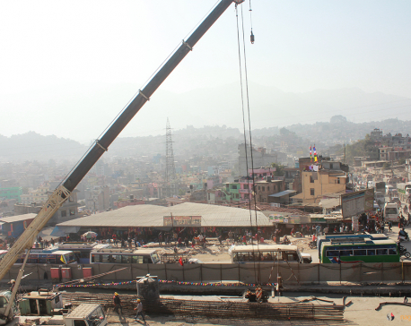 Nepal's first underpass being built at Kalanki