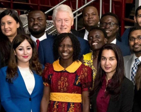 Kanchan Amatya wins Presidential Honor Roll Award from President Clinton