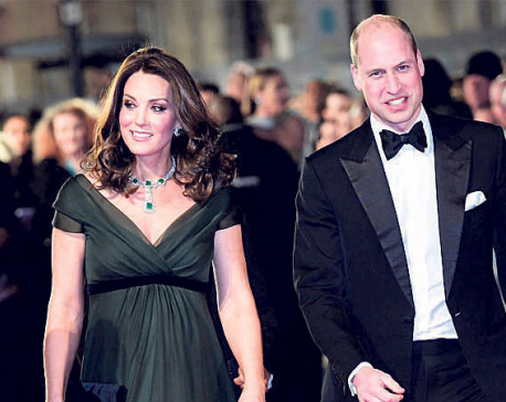 "BAFTAs: Kate Middleton goes green on ""Time's Up' dress code"