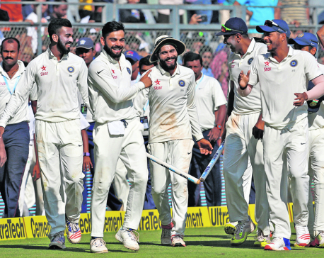 India demolishes England to clinch Test series