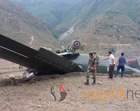 Pilot killed, 2 injured as NA cargo airplane crashes in Bajura