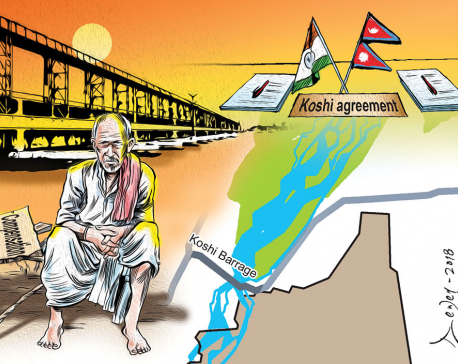 Koshi barrage-displaced awaiting compensation since three generations
