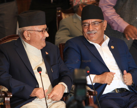 Dahal at odds with Oli over multiple issues but denies any differences