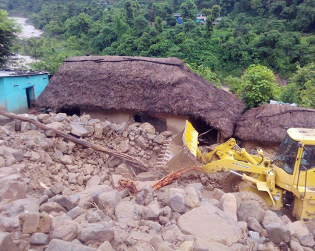 4 including 3 of same family buried to death in Palpa