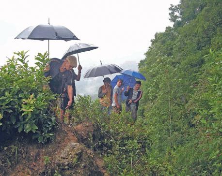 Entire village under risk of landslide