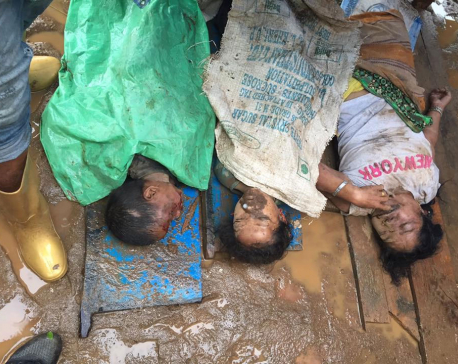 3 members of same family buried to death in Tehrthum