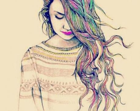 Girl in the sketch