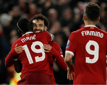 Salah shines again as Liverpool beat Roma 5-2